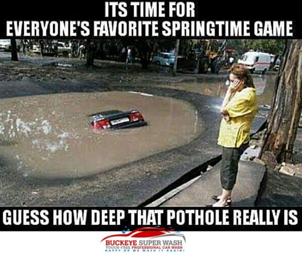how deep is the pothole